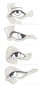 Variationen beim Augen zeichnen